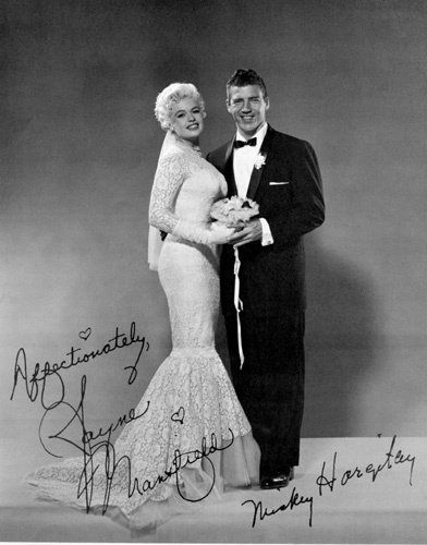 Jayne Mansfield and Mickey Hargitay's wedding photo - Mariska's parents