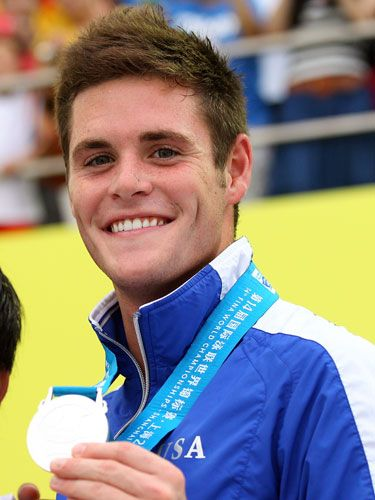 David Boudia has won six NCAA diving titles and is the first American diver to earn more than 600 points in six dives. Yeah, he's a perfect 10 in our eyes, too.