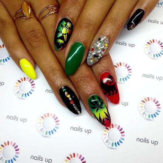 """Jamaica"" nails"