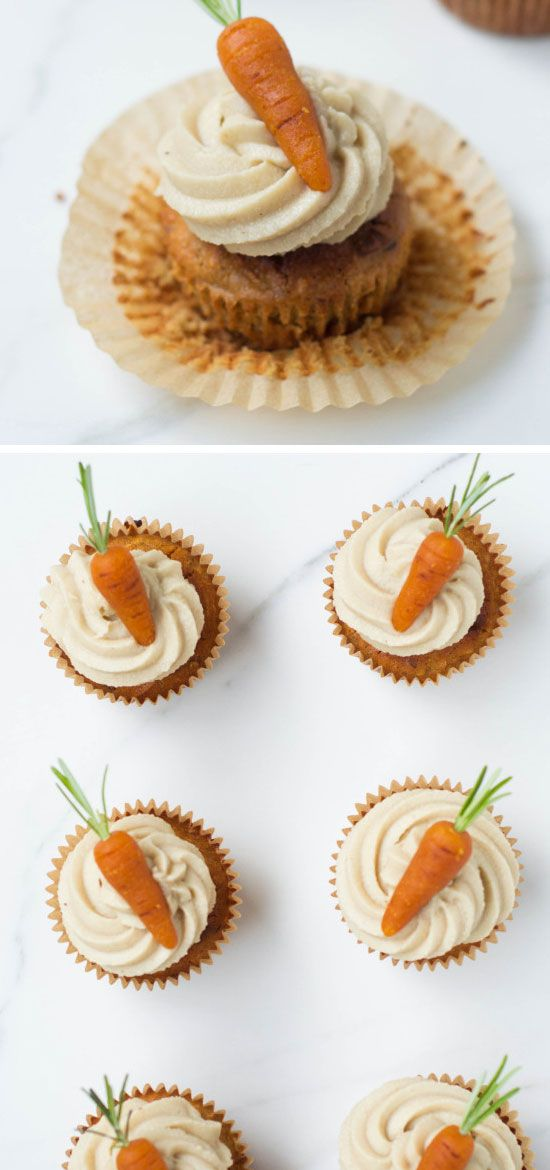 Carrot Cake Cupcakes | Click Pic for 17 Easy Healthy Dessert Recipes for Kids | Quick and Healthy Dessert Recipes