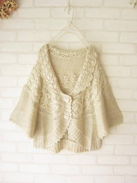 a crochet/knit hybrid bed jacket...very turn-of-the-century to me