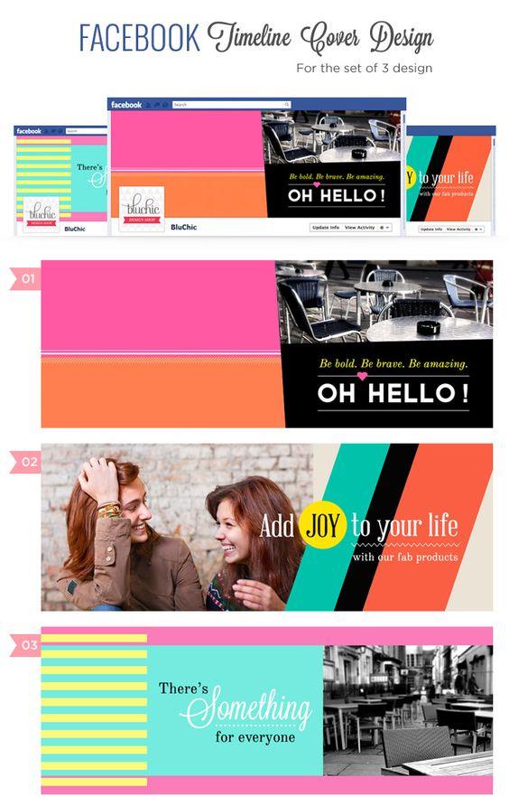Facebook Timeline Creative Cover idea 3  sets