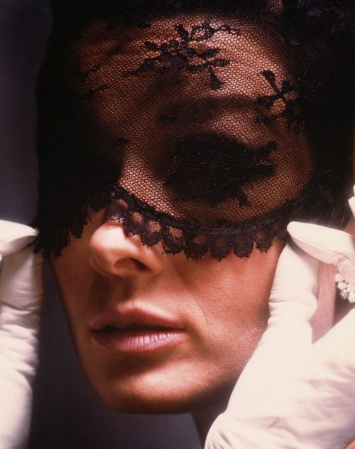 Audrey, with the infamous Givenchy mask in How To Steal a Million. This movie is wonderful.: