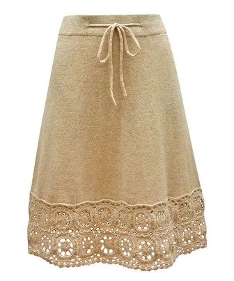 Look what I found on #zulily! Nick & Mo Oatmeal Crochet Anastasia Skirt by Nick & Mo #zulilyfinds