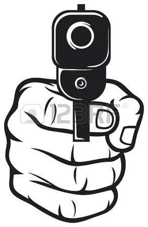 Pin On Gun Hand