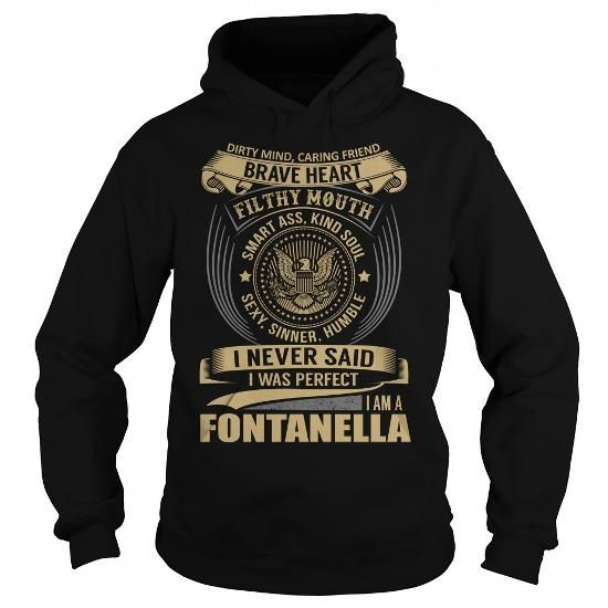 FONTANELLA Last Name, Surname T-Shirt - #gift #gift ideas. FONTANELLA Last Name, Surname T-Shirt, gifts for guys,shirt diy. LOWEST SHIPPING =>...