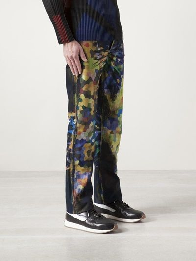 ISSEY MIYAKE - mosaic print jeans 8 --- not a huge jeans fan, but OMG, Pretty Colors.