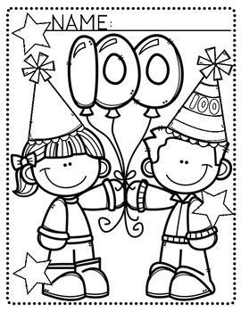 Free 100Th Day Of School Coloring Pages Free, Download Free Clip ... | 350x270