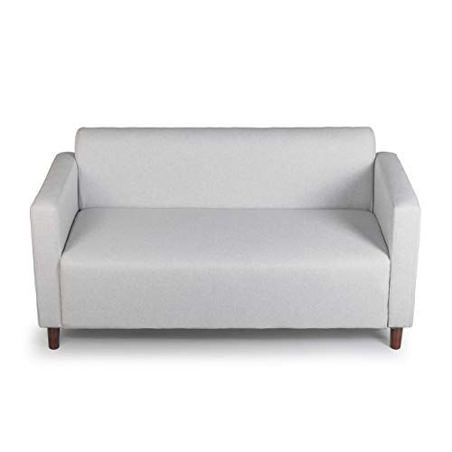 Mid Century Simple Fabric Loveseat Sofa Small Space Configurable Couch 55 Grey Sofas For Small Spaces Love Seat Small Sofa