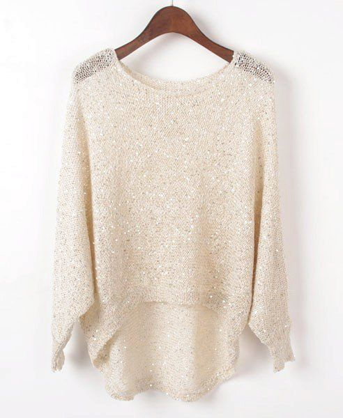 Bling Bling High Low Sequin Sweater