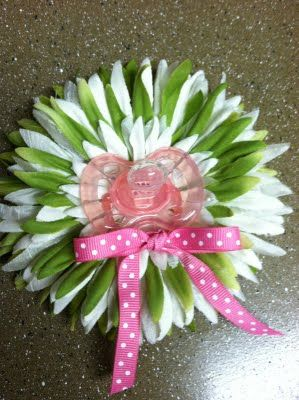 baby shower flower - would be cute on a gift!