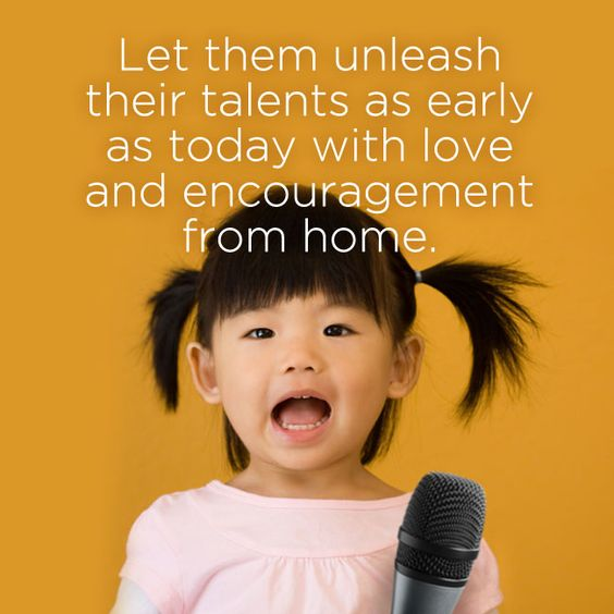 You can let kids hone their creative side by letting them sing, dance and express themselves. Your Home can be their place of freedom and expression.