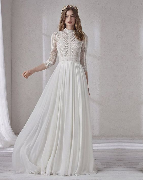 dramatic modest wedding dresses of your dream