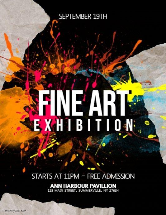 Fine Art Exhibition Flyer Art Exhibition Posters Art Exhibition Art Festival Poster