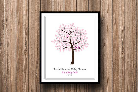 Baby Shower Tree Guest Book Signing Love Bird Poster - Nursery Art Tree Family - DIY personalizado Cartel para imprimir on Etsy, $15.00