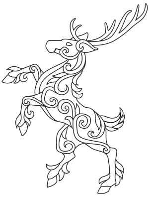 That'd be a tight xmas card - omit the horns obviously - but color this blue n orange to mimic the Denver Broncos Horse logo..