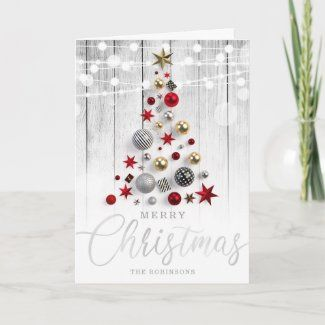 Ad Elegant Rustic Silver Gold Christmas Tree Holiday Card In 2020 Silver Gold Christmas Gold Christmas Tree Gold Christmas