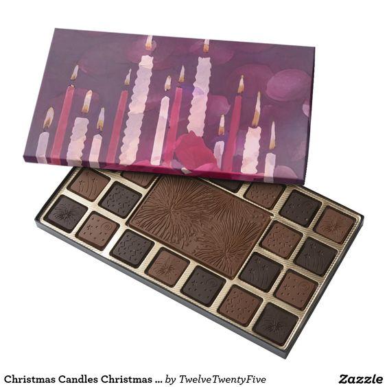 Christmas Candles Christmas Chocolate Assortment 45 Piece Assorted Chocolate Box