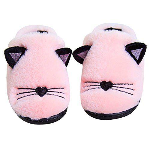 Kids Moc Slipper Cute Cat Slippers