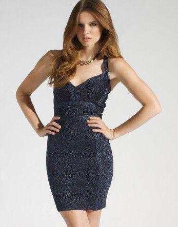 Black sparkle bandage dress
