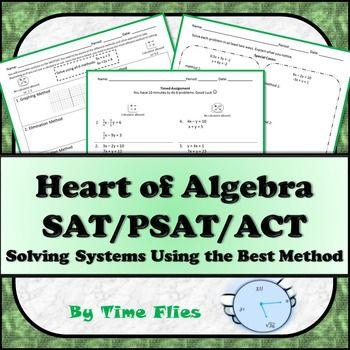 math worksheet : solving systems using the best method  college entrance test  : Psat Math Practice Worksheets