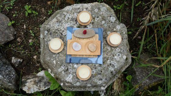 Zen altaar set, minimalistische altaar, eenvoudige altaar set, meditatie altaar, elementaire altaar box, heidense altaar kit, altaar reisset, yoga kamer altaar