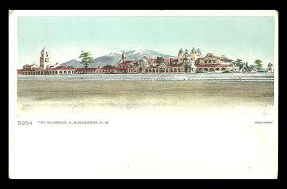 Alvarado Hotel Albuquerque New Mexico NM Fred Harvey Postcard