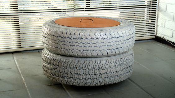 Hágalo Usted Mismo - ¿Cómo hacer un pouf con un neumático?