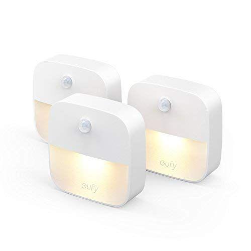 LED Nachtlicht mit Bewegungsmelder Nachtlampe Schranklicht Leuchte USB aufladbar