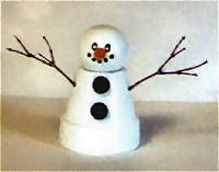 Reindeer Clay Pot Craft | Flower Pot Snowman Craft: Crafty Stuff, Clay Pot Crafts, Flower Pots, Snowman Clay, Snowman Craft, Crafts Clay, Clay Pots