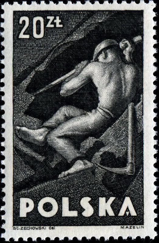 Polonia 1947 - Minero