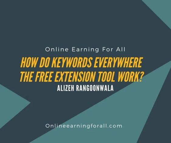 How Do Keywords Everywhere The Free Extension Tool Work With Images Keyword Planner Keyword Suggestion Extension Tools