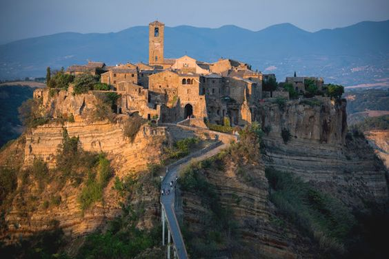 Civita Di Bagnoregio They Have An Underground House Carved Out Of