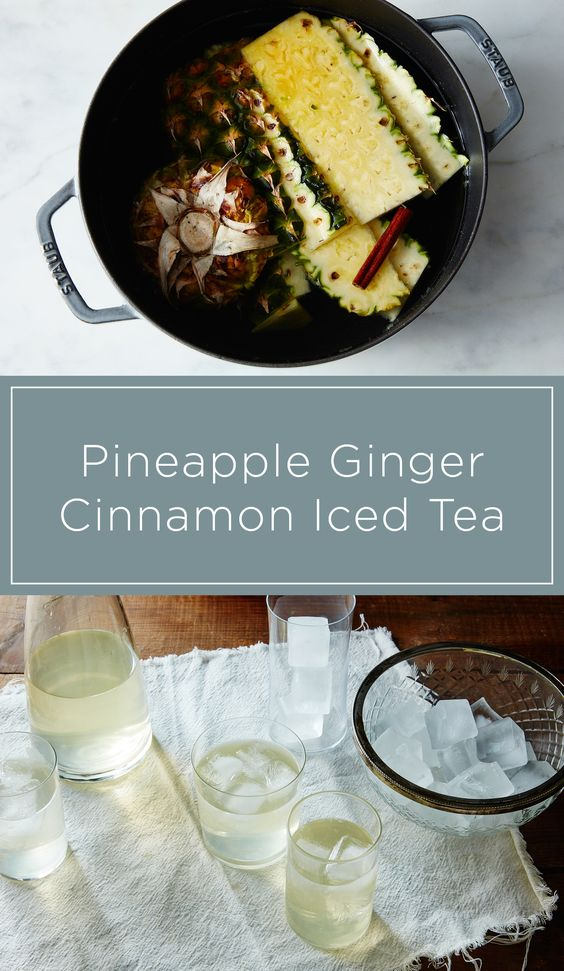 Turn your pineapple scraps into a refreshing iced tea.