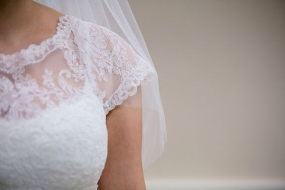 Jewish Wedding Gown with Lace Details {Erin Johnson Photography} - mazelmoments.com