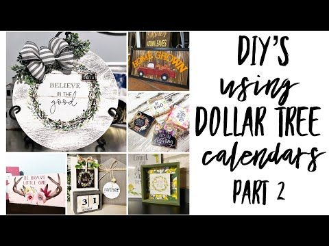 Diy S Using The New Dollar Tree Calendars Take 2 Dollar Tree Calendar Diy S Dollar Tree Diy S Youtube In 2020 Dollar Tree Diy Diy Calendar Dollar Store Diy