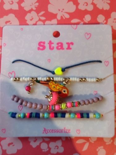 New accessorize kids star #friendship #bracelets - 4 in set, free #postage,  View more on the LINK: http://www.zeppy.io/product/gb/2/111992366839/