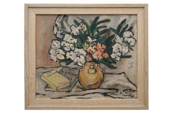 Still life oil painting by Maurice Chabas, signed and dated 1931. France, 1931