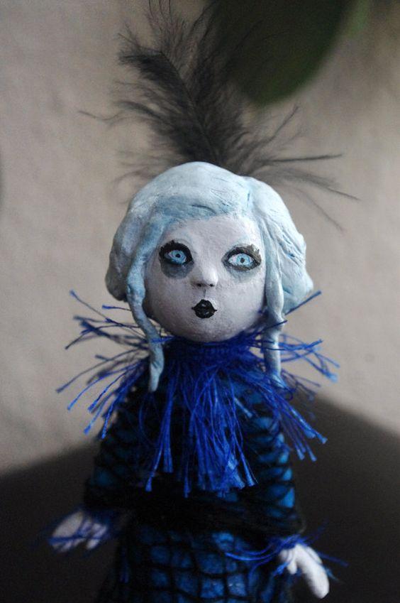 OOAK  Figura de pasta de papel -  Elodina, la marquesa extravagante. de Villaoscura en Etsy
