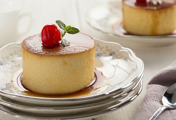 Flan recetas and postres on pinterest - Postres con queso de untar ...