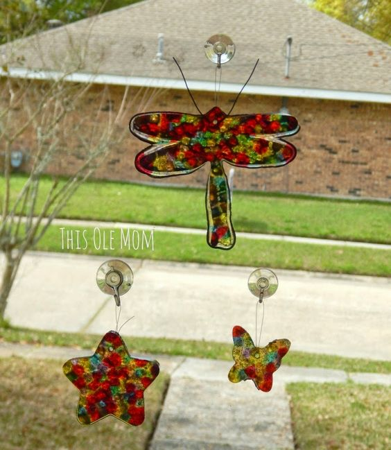 This Ole Mom: DIY: Sun Catchers