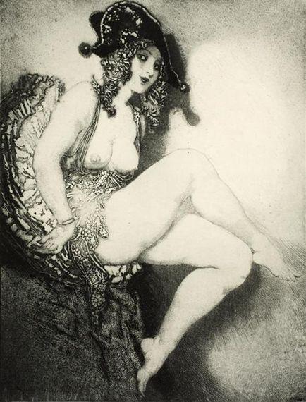 The Black Hat, Norman Lindsay. Australian (1879 - 1969):