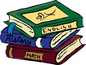 Clip Art School Books Clipart book clip art schoolbooks clipart image text books or school covering english