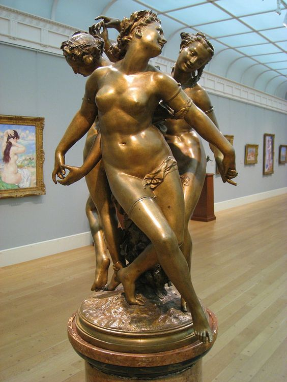Jean-Baptiste Carpeaux (1827-1875) 'The Three Graces: Aglaya, Talía y Eufrósine', ca 1870