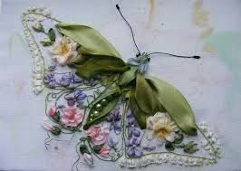 Billedresultat for ribbon embroidery pinterest