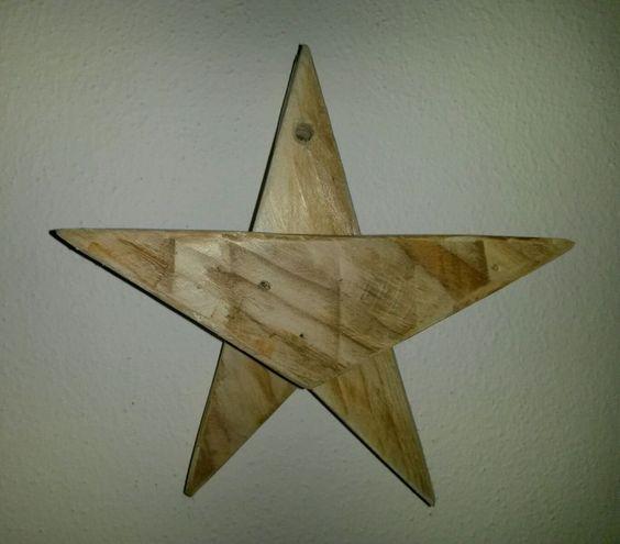Stella di natale addobbo natalizio in legno in casa for Bricolage arredamento