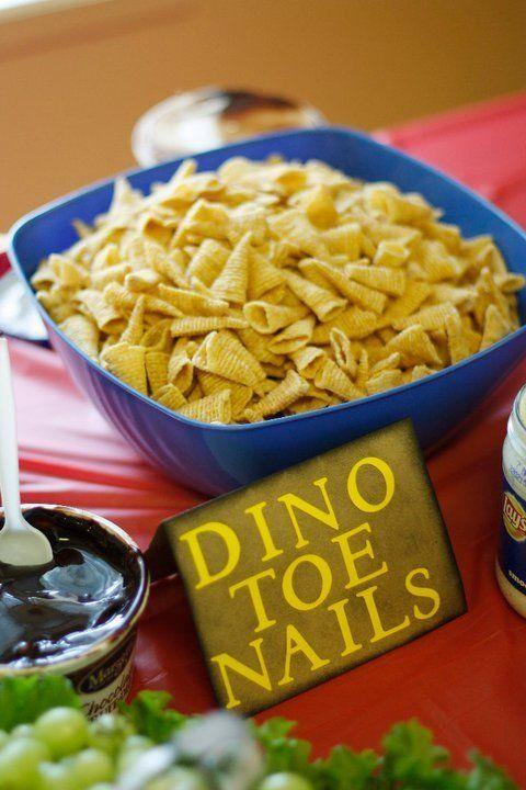 * Dino Toe Nails