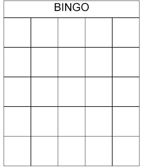 Bingo Card Template Microsoft Word