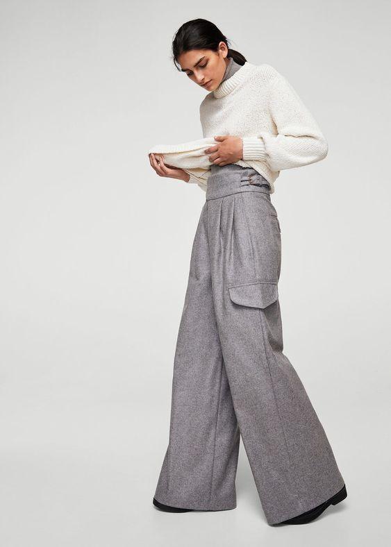 Ribbed edges sweater | MANGO