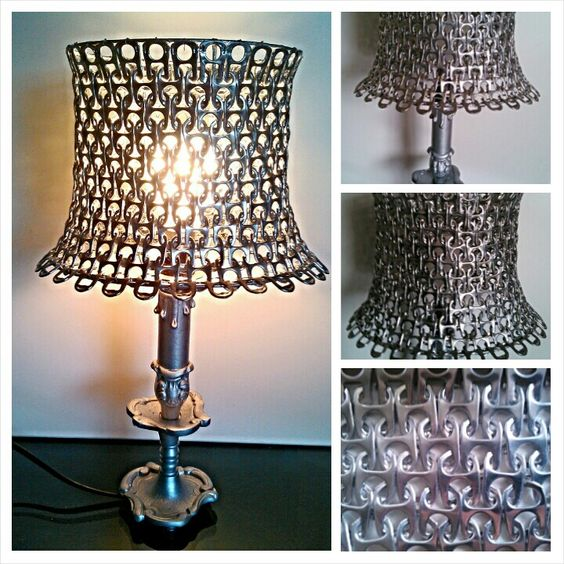 luminaire maison en capsules de canettes deco. Black Bedroom Furniture Sets. Home Design Ideas